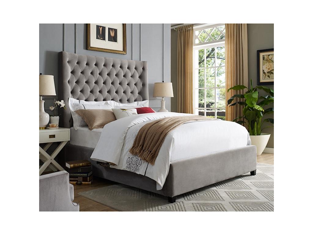 Crown Mark AsterKing Upholstered Bed