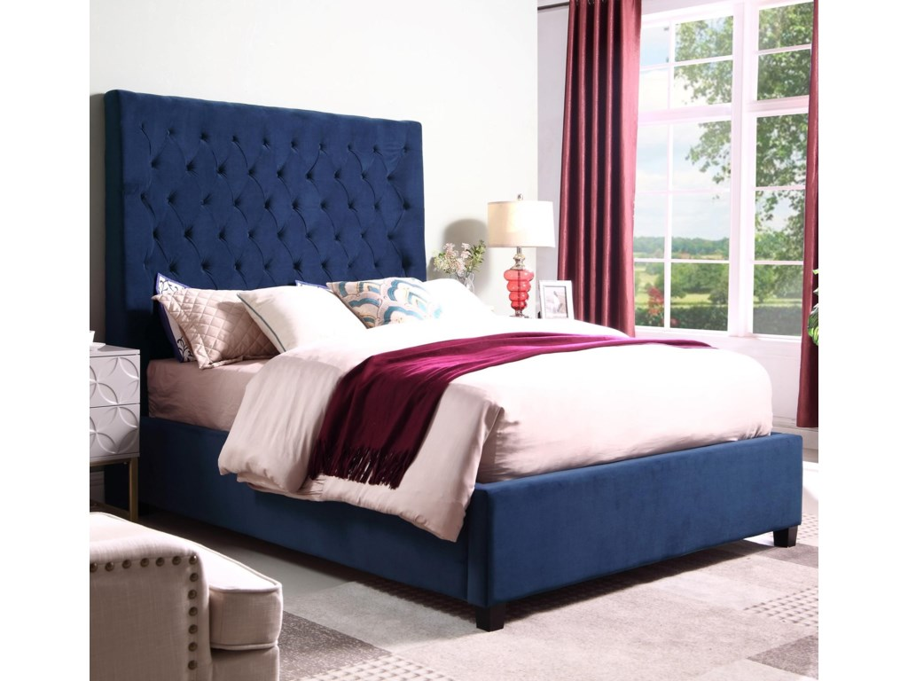 Crown Mark AsterQueen Upholstered Bed