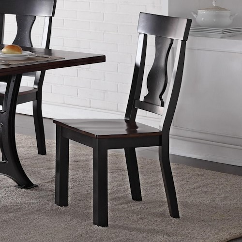 Crown Mark Astor Two-Toned Wooden Side Chair