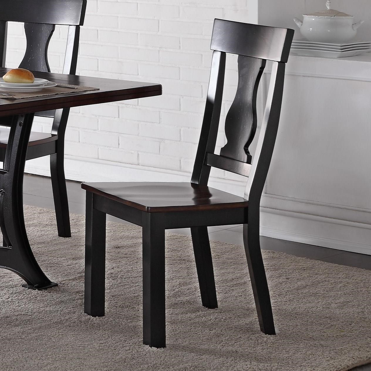 Crown Mark Astor Two Toned Wooden Side Chair