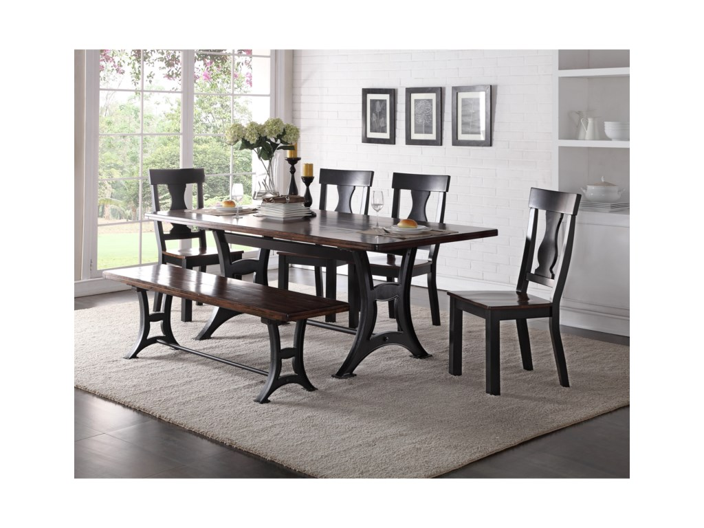 Crown Mark AstorDining Set with Bench