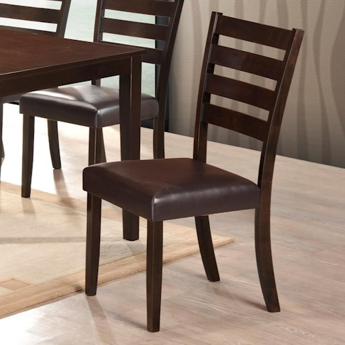 Crown Mark Aubery Dining Side Chair with Ladder Back