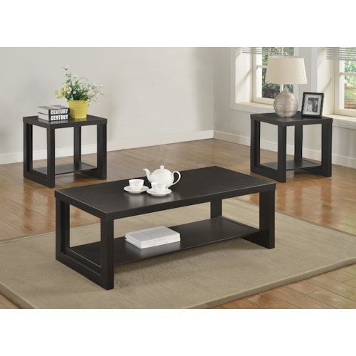 Crown Mark Audra Black Contemporary Three Pack Cocktail Set