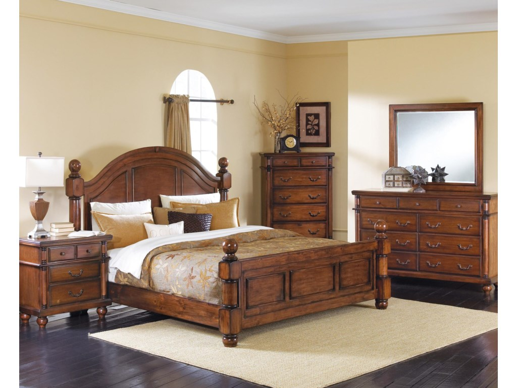 Shown with Coordinating Landscape Mirror, Nightstand, King Bed, and Chest