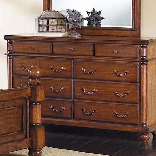 Crown Mark Augusta 9 Drawer Dresser