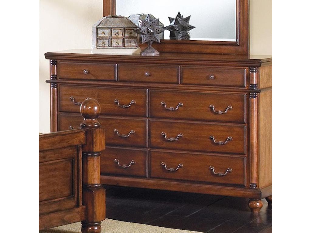 Crown Mark Augusta9 Drawer Dresser