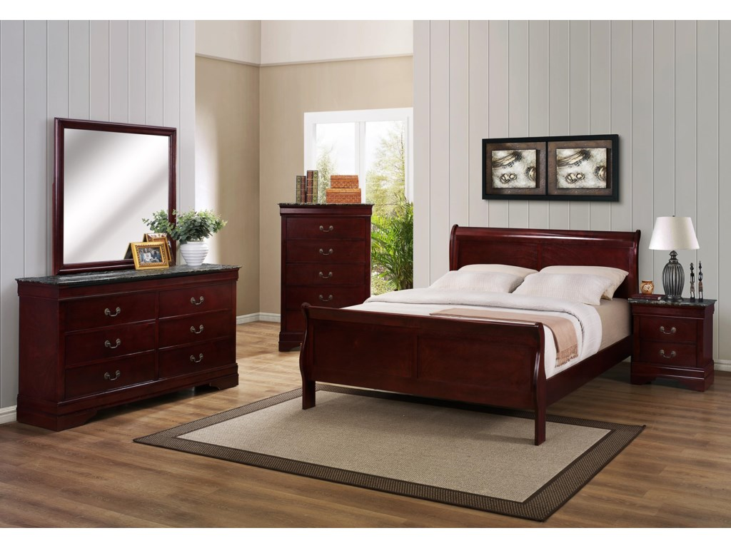 Crown Mark B3800 Louis PhillipeFull Bedroom Group