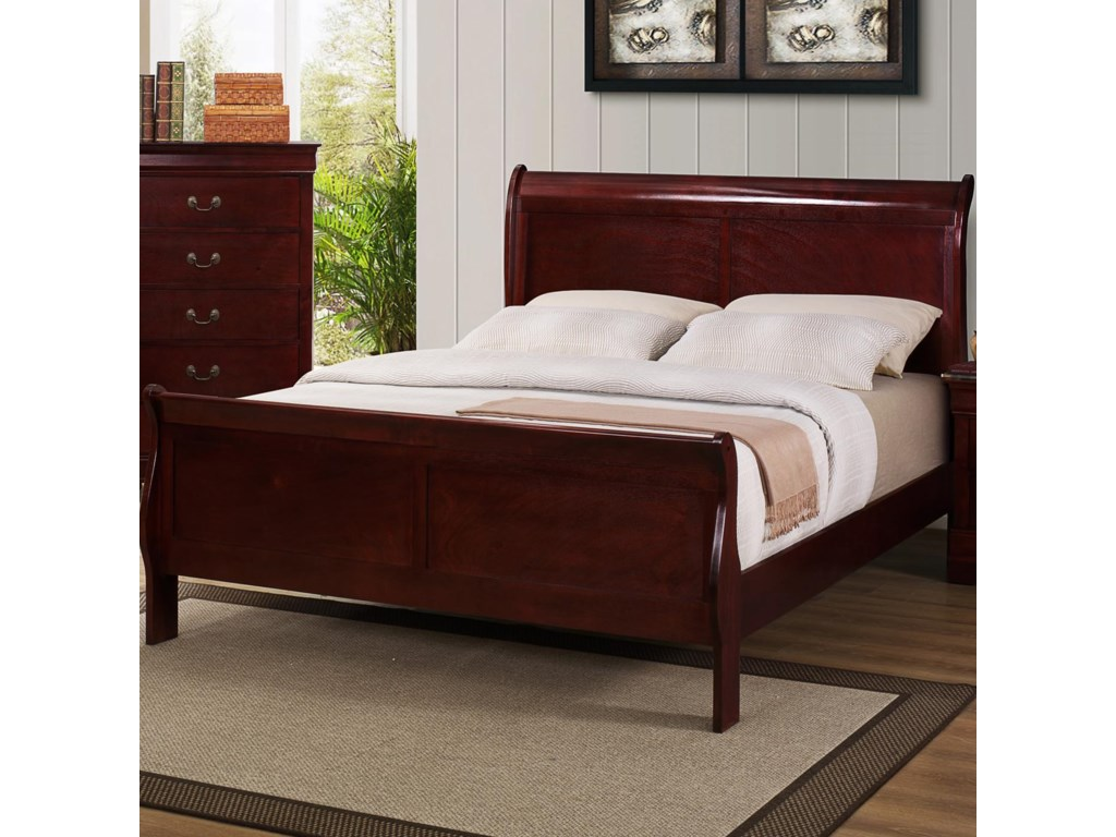 Crown Mark B3800 Louis PhillipeQueen Sleigh Bed
