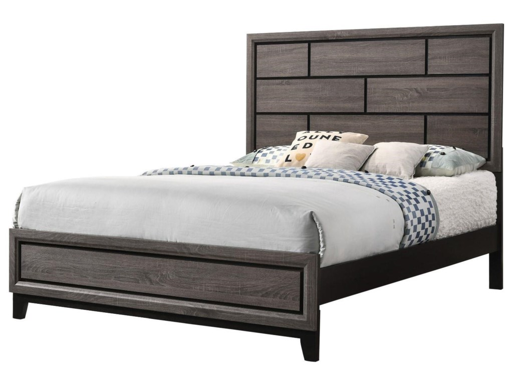 CM B4620 Akerson GreyQueen Bed