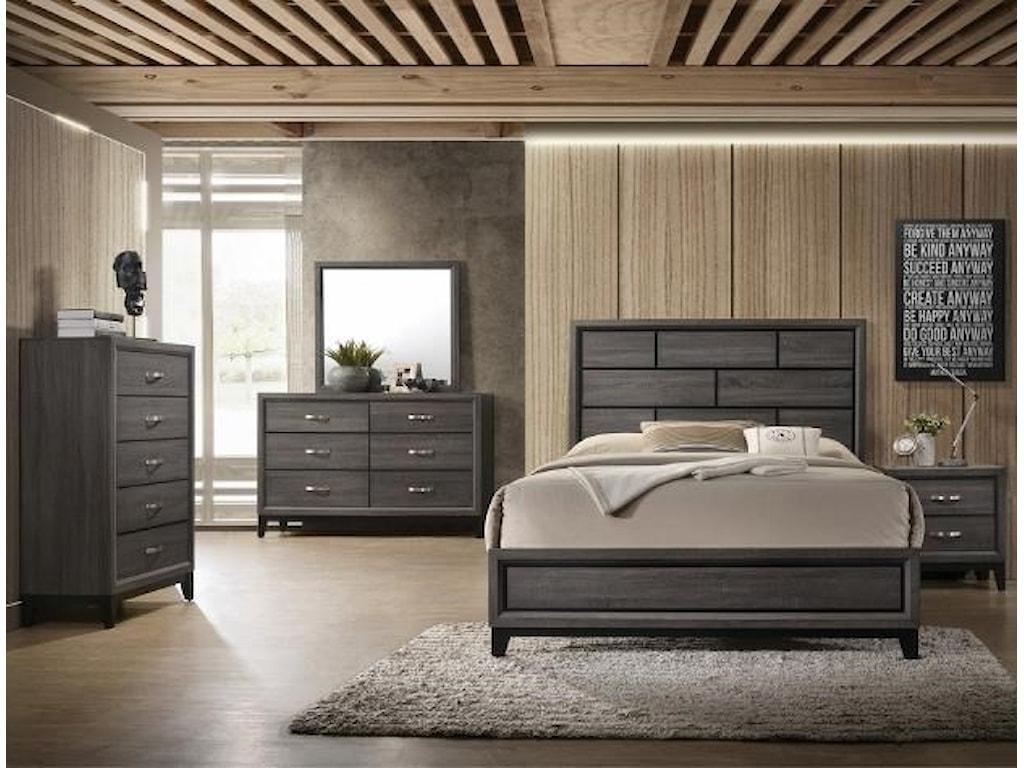 CM B4620 Akerson Grey4pc Queen Bedroom Set