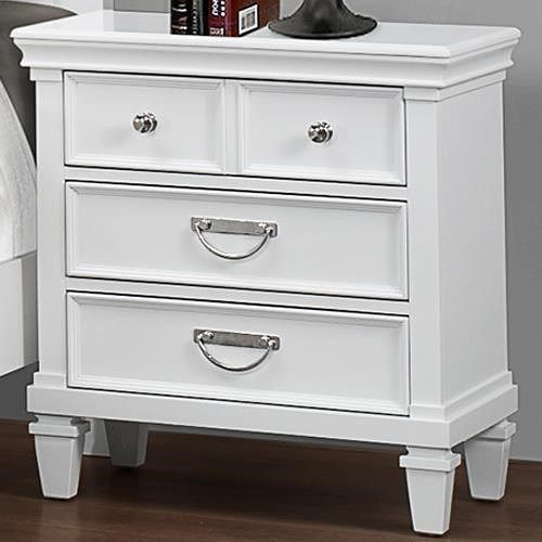 Crown Mark Hannah Night Stand with 3 Drawers