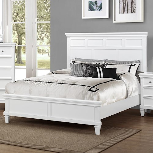 Crown Mark Hannah Queen Bed with Tapered Feet