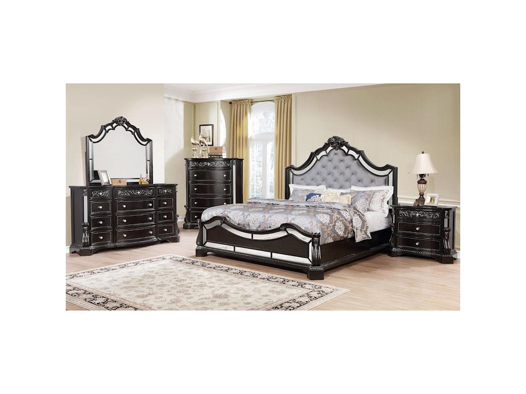Crown Mark BankstonKing Bedroom Group