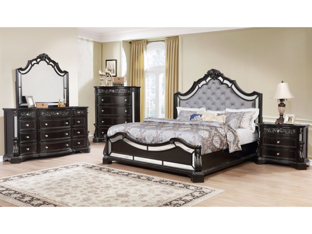 Crown Mark BankstonQueen Upholstered Bed