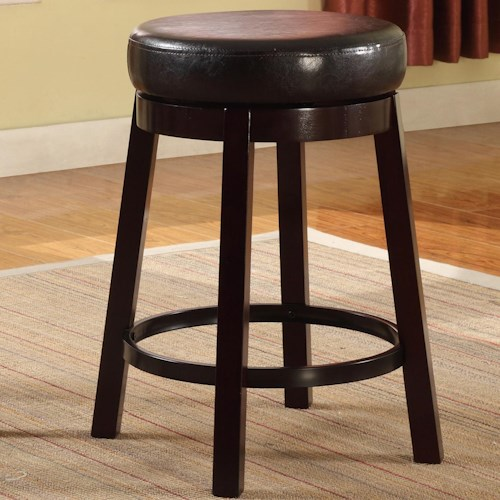 Crown Mark Bar Stools Contemporary Upholstered Counter Height Swivel Stool
