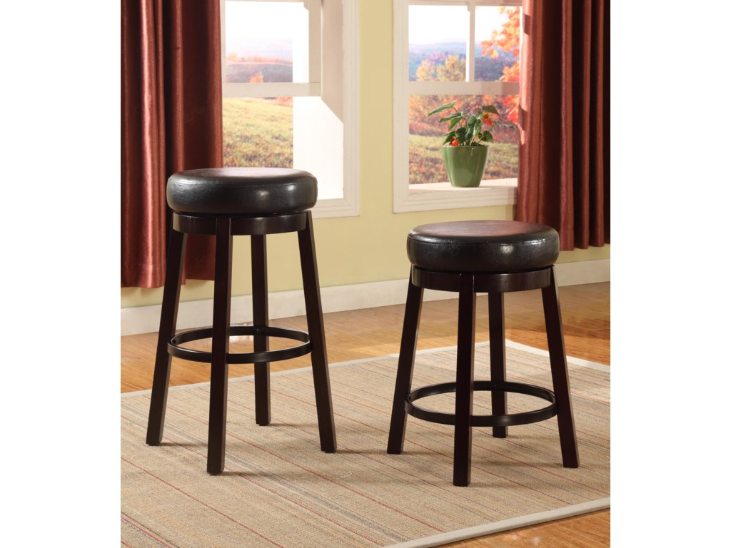 Crown Mark Bar StoolsLow Swivel Stool