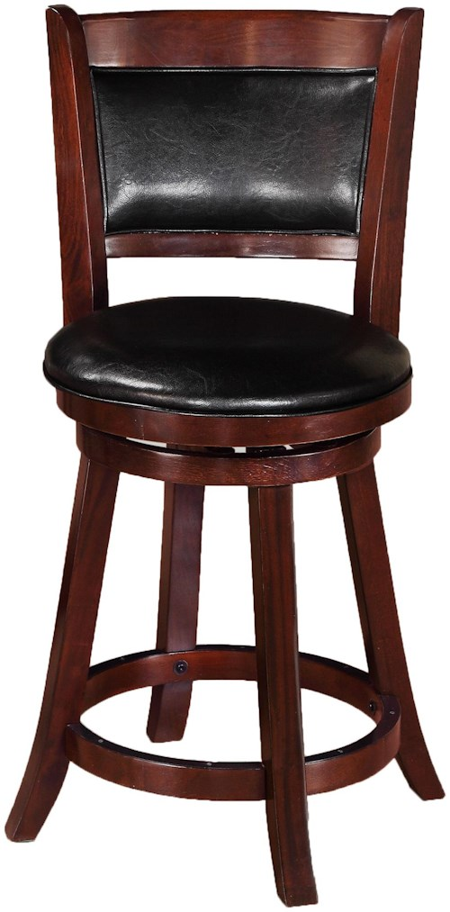 Crown Mark Bar Stools Transitional Upholstered Low Swivel Chair