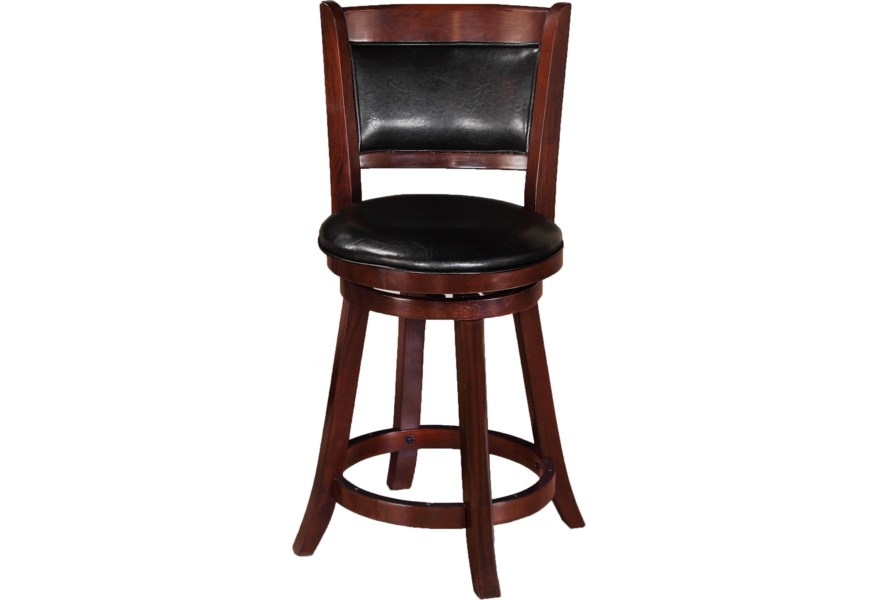 Crown Mark Bar Stools 2798c 24 Transitional Upholstered Low Swivel