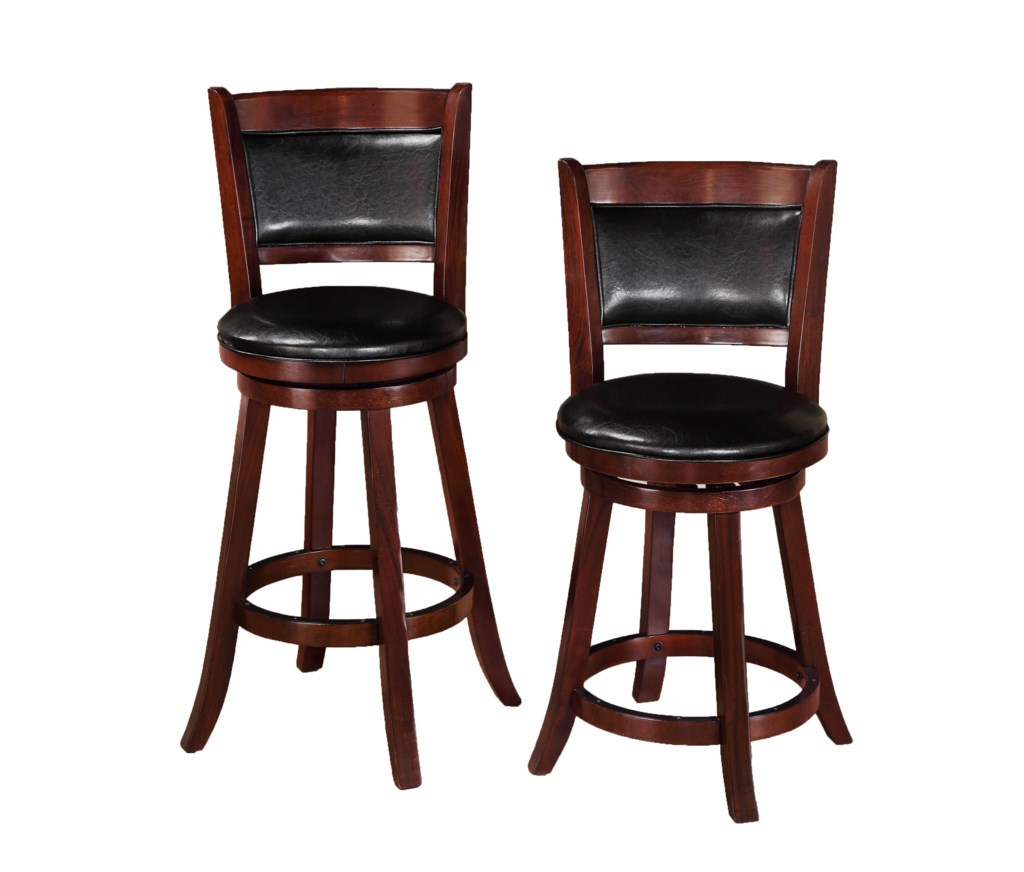 Crown Mark Bar Stools 2798c 24 Transitional Upholstered Low