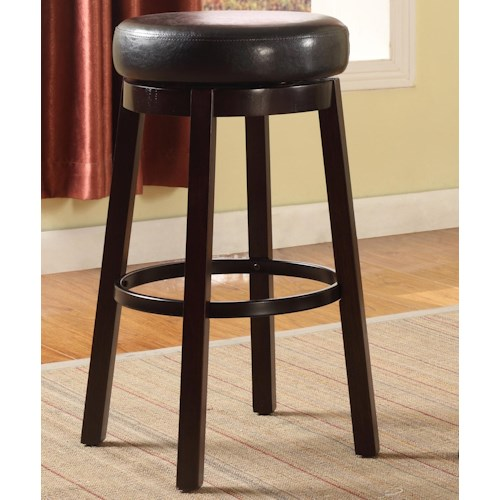 Crown Mark Bar Stools Contemporary Upholstered Bar Height Swivel Stool