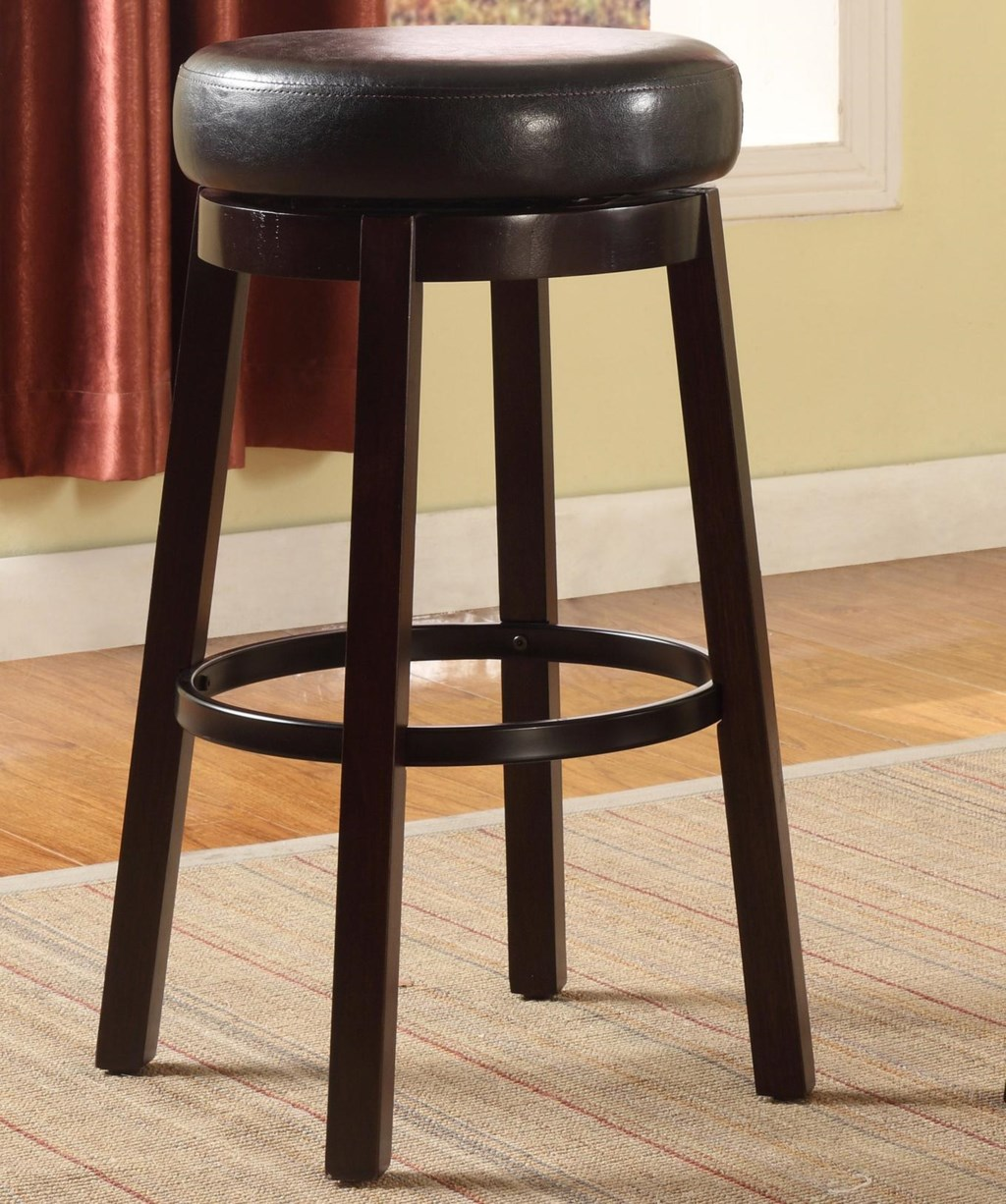 Crown Mark Bar Stools Contemporary Upholstered Bar Height Swivel