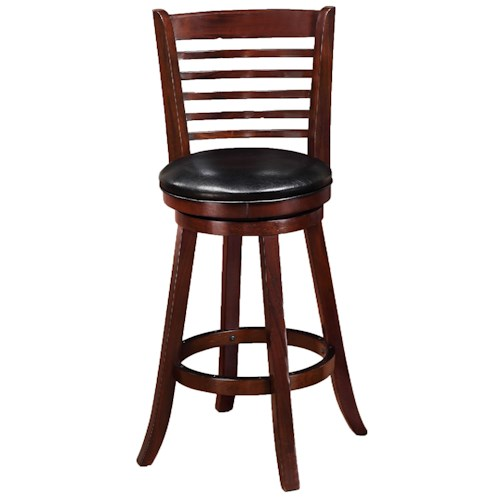 Crown Mark Bar Stools Transitional High Swivel Chair