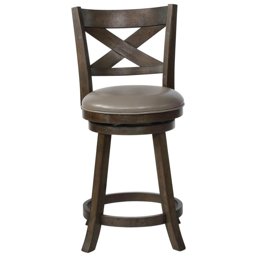 Crown Mark Bar Stools Cm 2793c 24 Gy Swivel Counter Height Stool