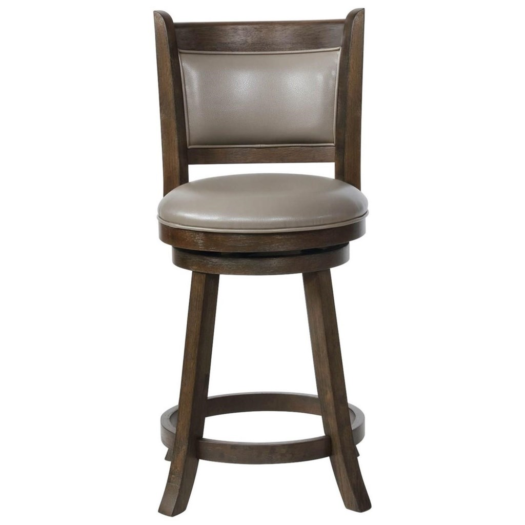 Crown Mark Bar Stools Cm 2798c 24 Gy Swivel Counter Height Bar Stool
