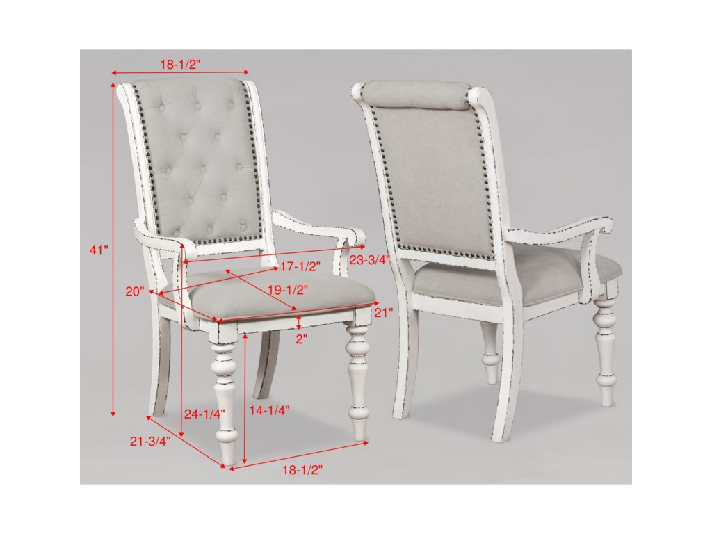 Crown Mark BardotDining Arm Chair