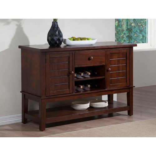 Crown Mark Bardstown Dining Server with Built In Wine Bottle Storage