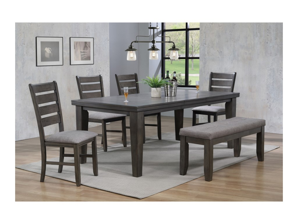 Bardstown 6 Piece Dining Set w/ 4 Chairs & Bench