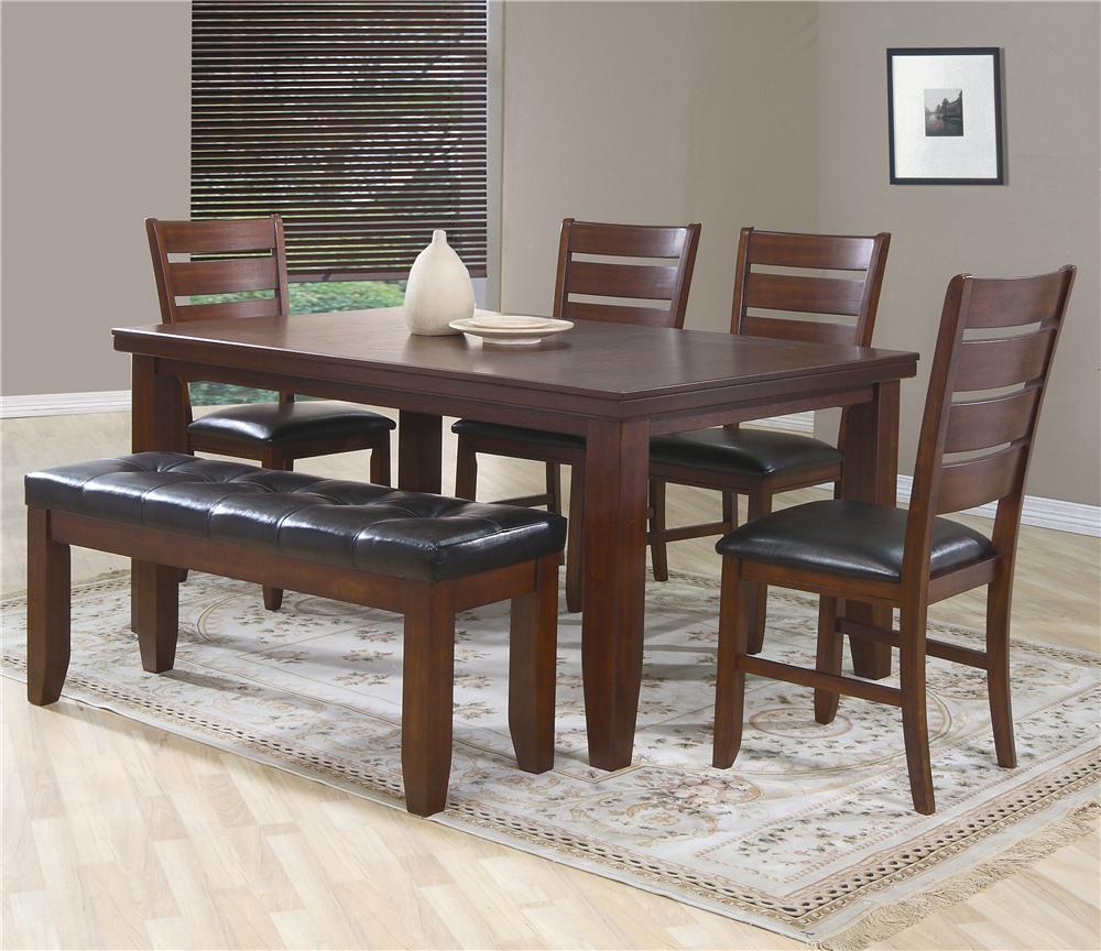 Crown Mark Bardstown 6 Piece Dining Set W/ 4 Chairs U0026 Bench