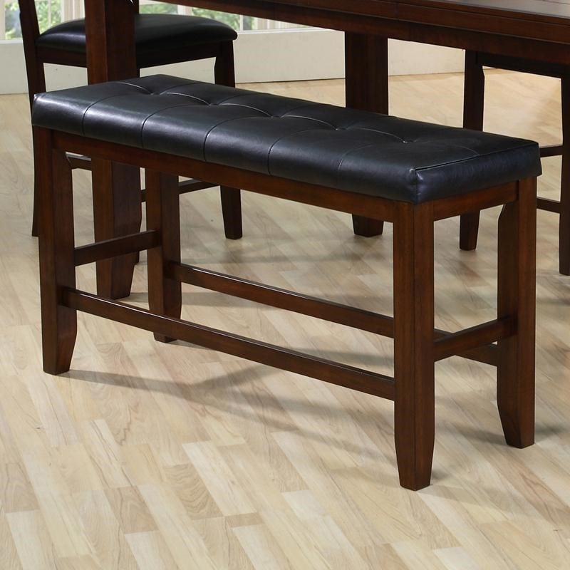 Counter Height Bench with Tufted Set