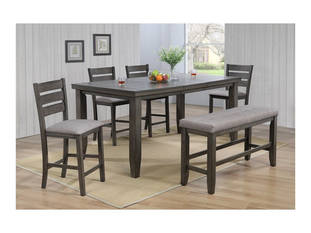 Bardstown Pub Table Set with Bench
