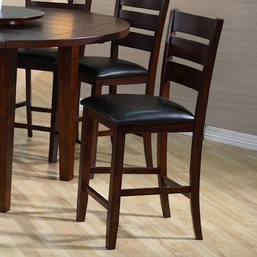 Crown Mark Bardstown Counter Height Chair with Upholstered Seat