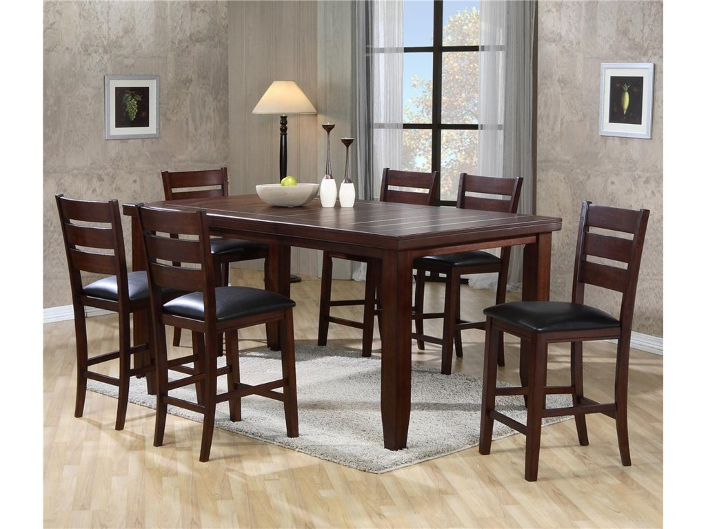 Crown Mark Bardstown 2752 5pc Rectangular Counter Height Table Set