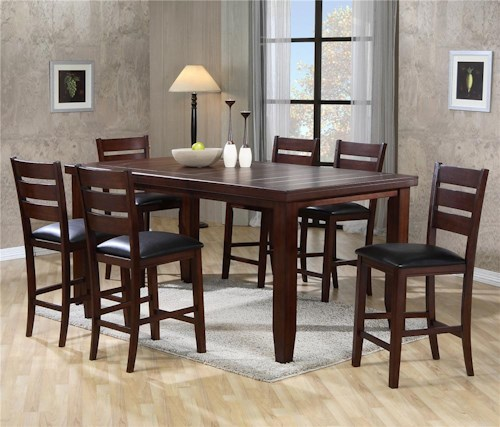 acme com cherry sets finish chair height counter table dp set vendome traditional amazon dining