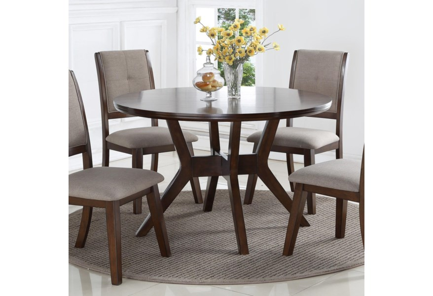 Crown Mark Barney 2322t 48 Mid Century Modern Round Dining Table
