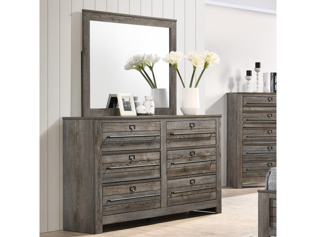 Crown Mark BatesonDresser and Mirror
