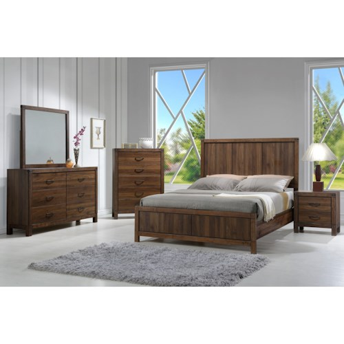 Crown Mark Belmont Queen Bedroom Group