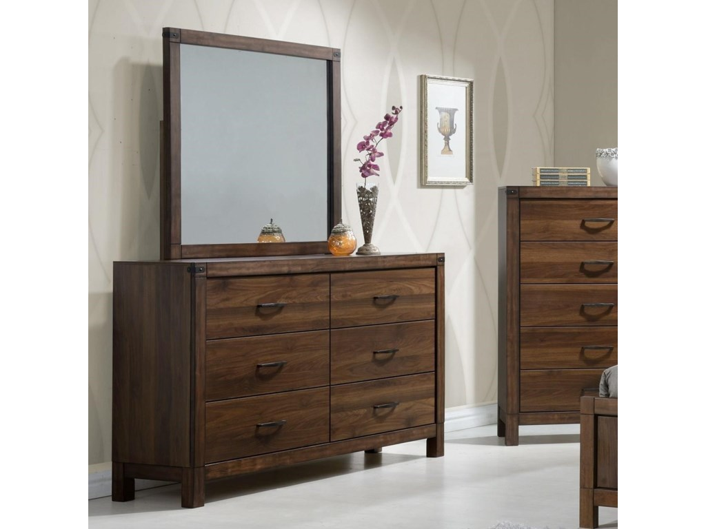 Crown Mark BelmontDresser and Mirror Set
