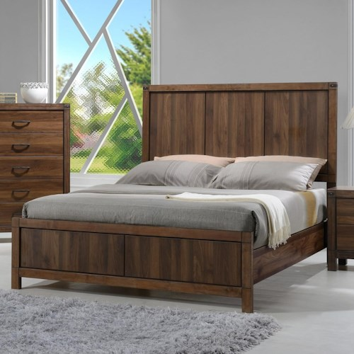 Crown Mark Belmont Queen Headboard and Footboard Panel Bed