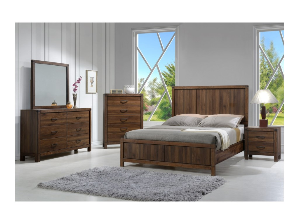 Crown Mark BelmontKing Headboard and Footboard