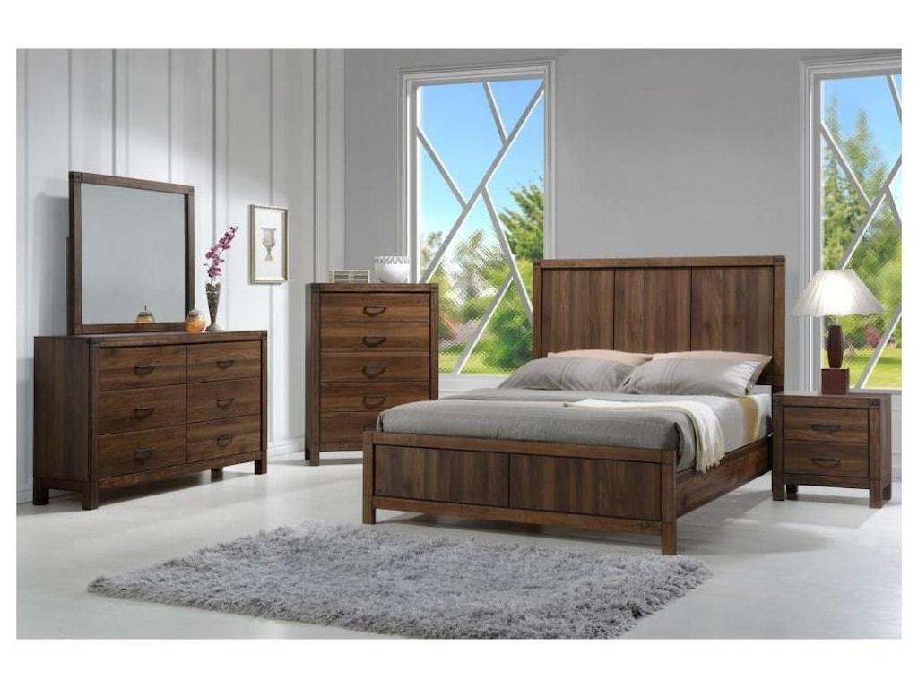 Crown Mark BelmontQueen 6 Piece Bedroom Group