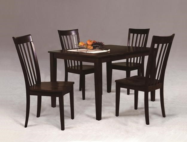 Crown Mark Brody Casual Contemporary Five Piece Dining Set Royal