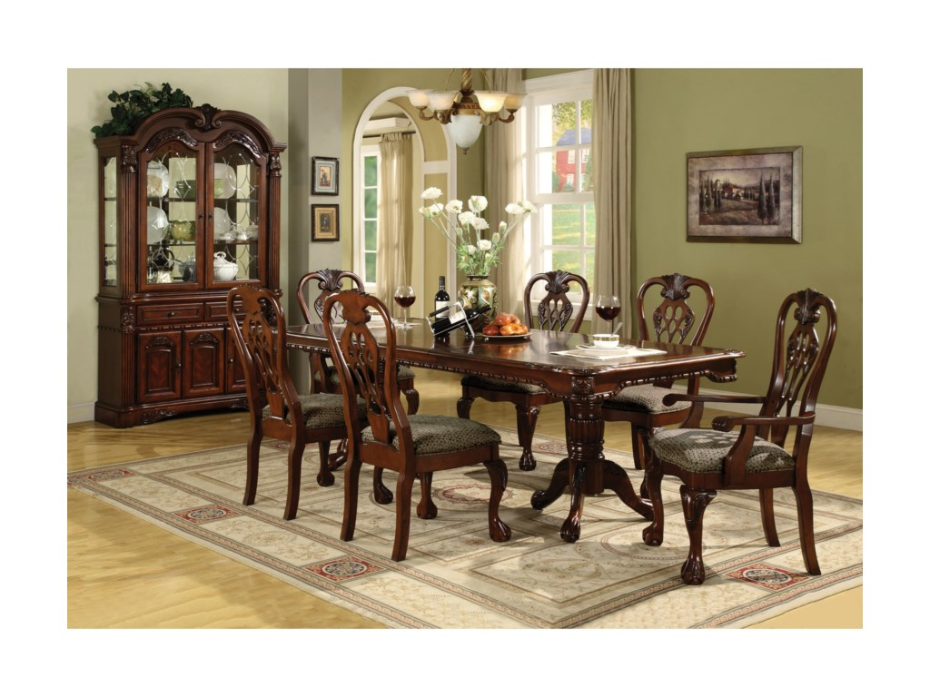 Crown Mark BrusselsDining Table and Chair Set