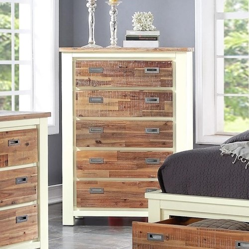 Crown Mark Buckley Two-Toned Chest of Drawers