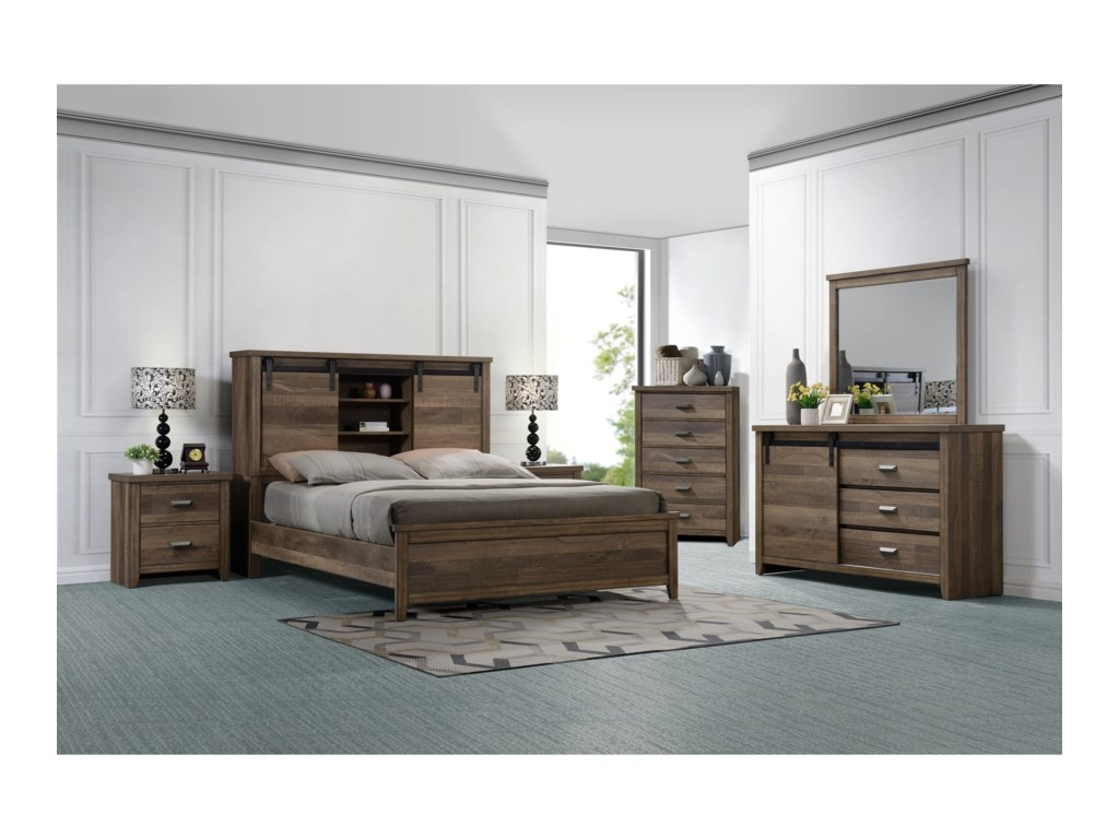 Crown Mark CalhounQueen Bedroom Group