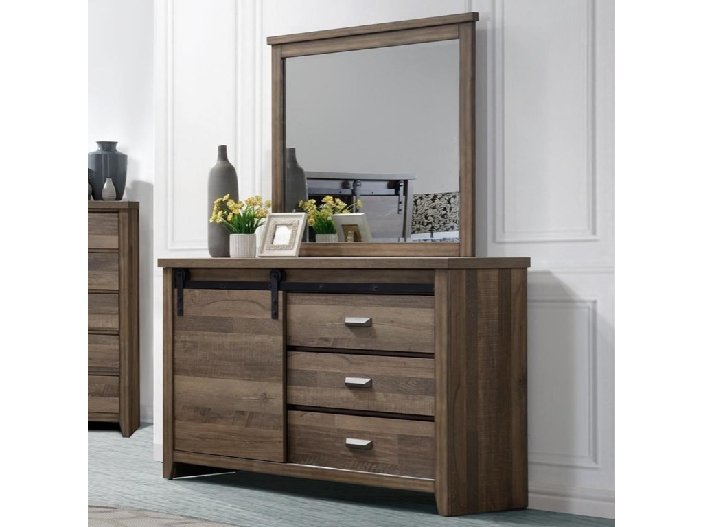 Rooms Collection One CalhounDresser and Mirror Combo
