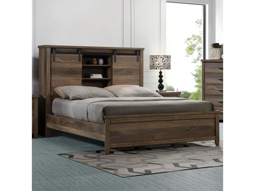 ROOMS # 1 Collection CalhounQueen Bookcase Bed
